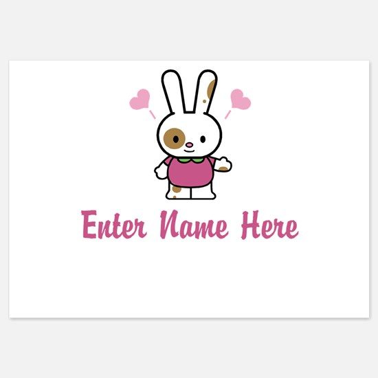 Personalized Bunny Invitations