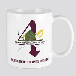 Fourth Recruit Training Battalion with Text Mug