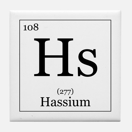 Elements - 108 Hassium Tile Coaster