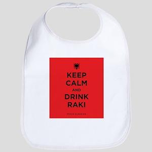 Keep Calm and drink raki Bib