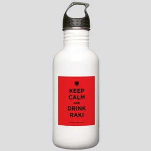 Keep Calm and drink raki Stainless Water Bottle 1.