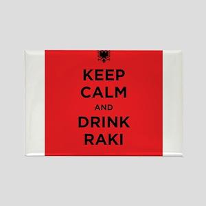 Keep Calm and drink raki Rectangle Magnet