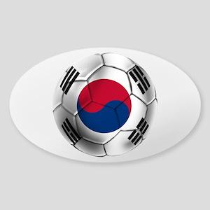 Korea Football Sticker (Oval)