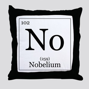Elements - 102 Nobelium Throw Pillow