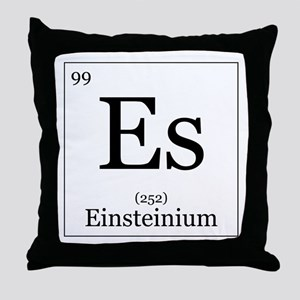 Elements - 99 Einsteinium Throw Pillow