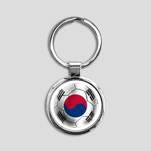 Korea Football Round Keychain
