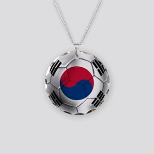 Korea Football Necklace Circle Charm