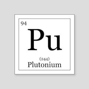 """Elements - 94 Plutonium Square Sticker 3"""" x 3"""""""