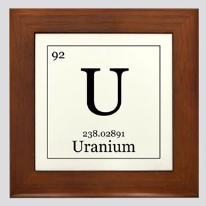 Elements - 92 Uranium Framed Tile