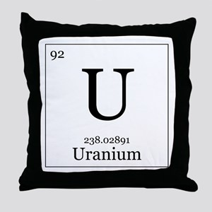 Elements - 92 Uranium Throw Pillow
