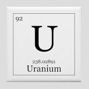 Periodic table uranium coasters cafepress elements 92 uranium tile coaster urtaz Image collections