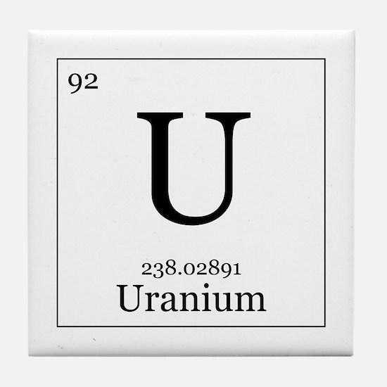 Elements - 92 Uranium Tile Coaster