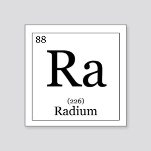 "Elements - 88 Radium Square Sticker 3"" x 3"""