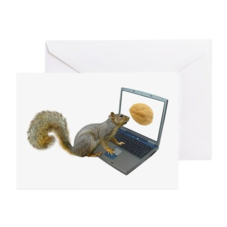 Squirrel at Computer Greeting Cards (Pk of 20)