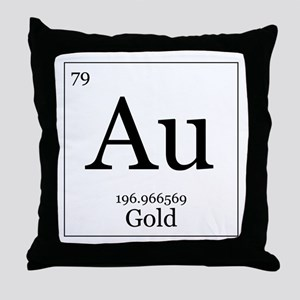 Elements - 79 Gold Throw Pillow