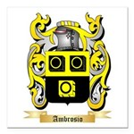 Ambrosio Square Car Magnet 3