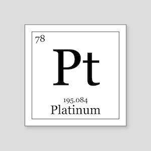 """Elements - 78 Platinum Square Sticker 3"""" x 3"""""""