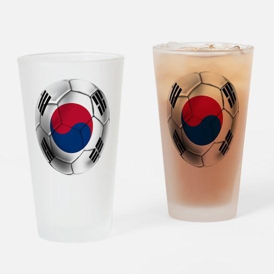 Korea Football Drinking Glass