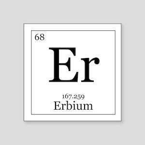 """Elements - 68 Erbium Square Sticker 3"""" x 3"""""""