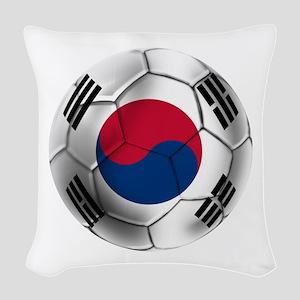 Korea Football Woven Throw Pillow