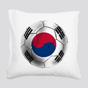 Korea Football Square Canvas Pillow