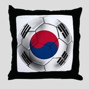Korea Football Throw Pillow