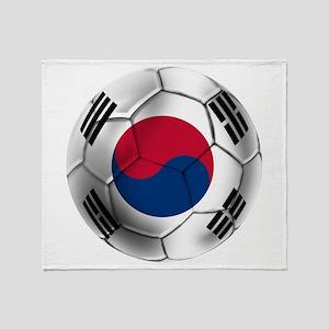 Korea Football Throw Blanket