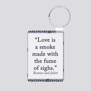 Love Is a Smoke Aluminum Photo Keychain