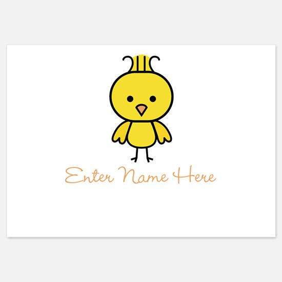 Personalized Baby Chick Invitations