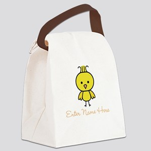 Personalized Baby Chick Canvas Lunch Bag