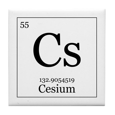 Elements 55 cesium tile coaster by alltherage elements 55 cesium tile coaster urtaz Gallery