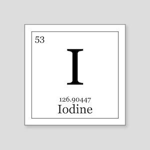 Iodine periodic table stickers cafepress elements 53 iodine square sticker 3 urtaz Choice Image