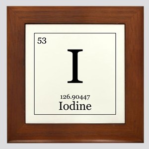 Elements - 53 Iodine Framed Tile