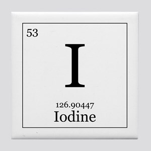 Iodine periodic table gifts cafepress iodine periodic table elements 53 iodine tile coaster urtaz Images