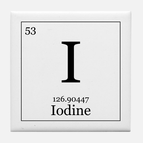 Elements - 53 Iodine Tile Coaster