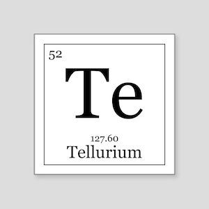"""Elements - 52 Tellurium Square Sticker 3"""" x 3"""""""