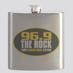 969 The Rock Your Classic Rock Station Flask