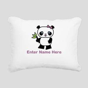 Personalized Panda Rectangular Canvas Pillow