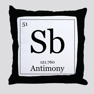 Elements - 51 Antimony Throw Pillow