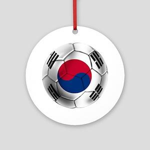 Korea Football Round Ornament