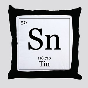 Elements - 50 Tin Throw Pillow