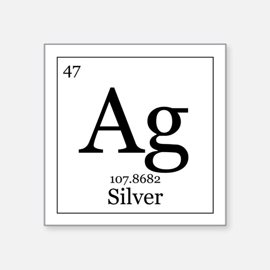 Periodic table silver stickers cafepress elements 47 silver square sticker 3 urtaz Gallery