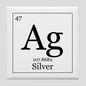 Periodic table silver coasters cafepress elements 47 silver tile coaster urtaz Gallery