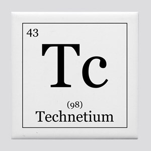 Technetium coasters cafepress elements 43 technetium tile coaster urtaz Images