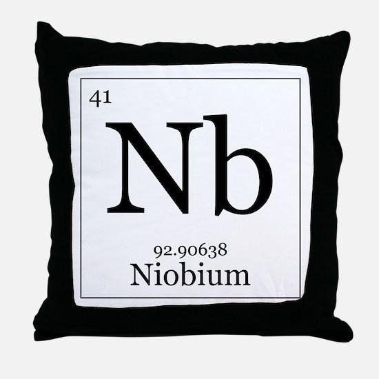 Elements - 41 Niobium Throw Pillow