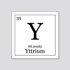 Periodic table yttrium stickers cafepress elements 39 yttrium square sticker 3 urtaz Images