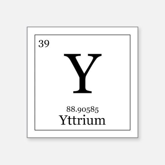 """Elements - 39 Yttrium Square Sticker 3"""" x 3"""""""