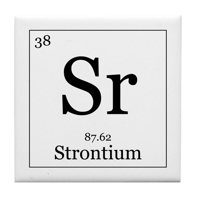 Elements 38 Strontium Tile Coaster By Alltherage