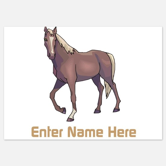Personalized Horse 5x7 Flat Cards