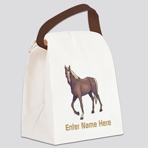 Personalized Horse Canvas Lunch Bag